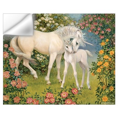 UNICORN MARE AND FOAL Wall Decal