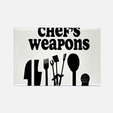 Chef's Weapons Rectangle Magnet