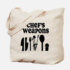 Chef's Weapons Tote Bag