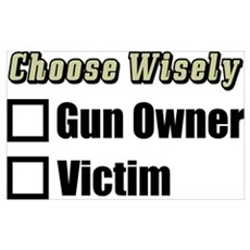 """Gun Owner Or Victim?"" Framed Print"