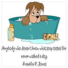 Dog Bath Poster