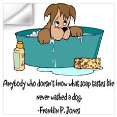 Dog Bath Wall Decal