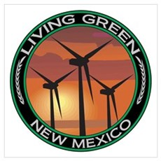 Living Green New Mexico Wind Power Poster