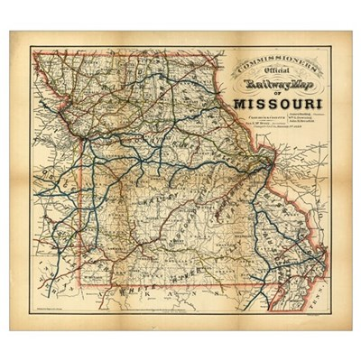 1888 Missouri Framed Print