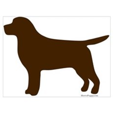 Chocolate Lab Silhouette Poster
