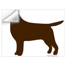 Chocolate Lab Silhouette Wall Decal