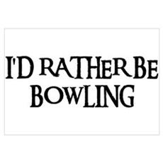I'D RATHER BE BOWLING Framed Print