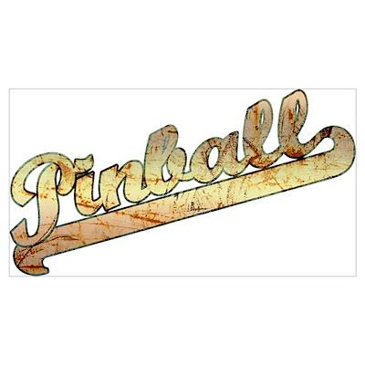 Vintage Gold Pinball Poster