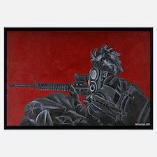 gas mask gunner