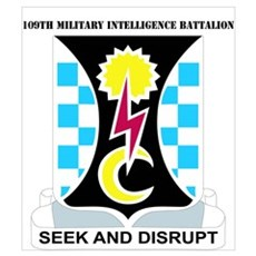 DUI - 109th Military Intelligence Bn with Text Lar Poster