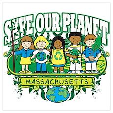 Earth Kids Massachusetts Poster