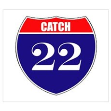 Catch 22 Route Framed Print