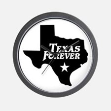Texas Forever (White Letters) Wall Clock