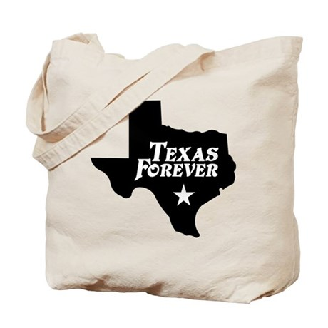 Texas Forever (White Letters) Tote Bag
