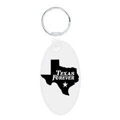 Texas Forever (White Letters) Keychains