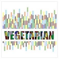 Colorful Vegetarian Poster