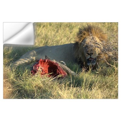 of Lion and his Warthog victim Wall Decal