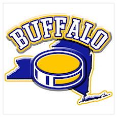 Buffalo Hockey Poster