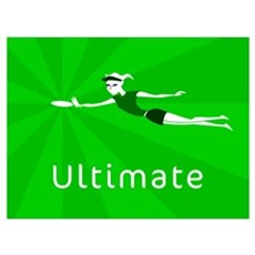 Ultimate Frisbee Canvas Art