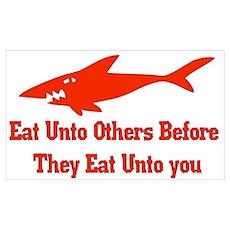 Golden Shark Rule Poster