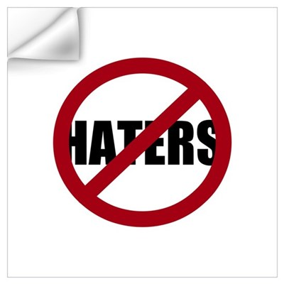 No Haters Wall Decal
