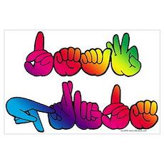 Deaf Pride Rainbow Poster
