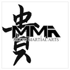 MMA Kanji Honor - Black Logo Poster