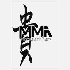 MMA Kanji Honor - Black Logo