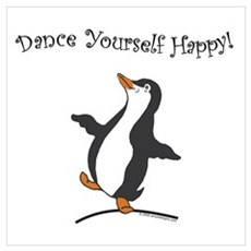 Dancing Penguin Poster