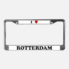 I Love Rotterdam License Plate Frame