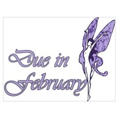 Due February Purple W Fairy Poster