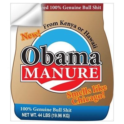 Obama Manure Wall Decal