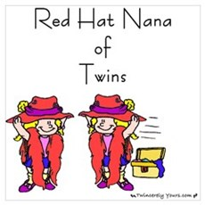 Red Hat Nana of Twins Poster