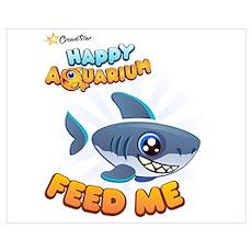 Smiling Shark Poster