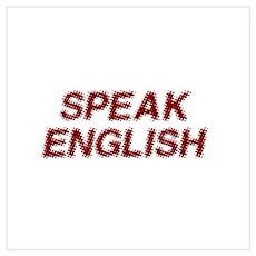 Speak English Poster