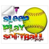 Girls softball Wall Decals