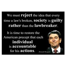 Reagan Quote - Individual Accountable Framed Print