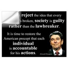 Reagan Quote - Individual Accountable Wall Decal