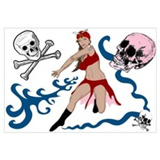 Pirate Pin-Up Poster