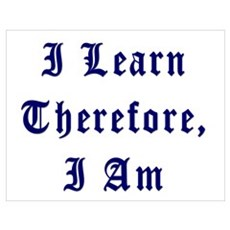 I Learn Therefore I Am Poster