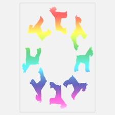 Rainbow Schnauzer Circle