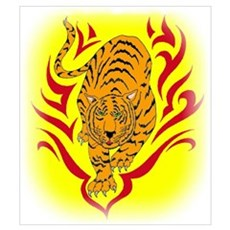 Tiger in Flames Poster