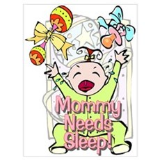 Mommy Needs Sleep Framed Print