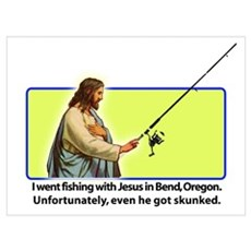 Fishing with Jesus Poster