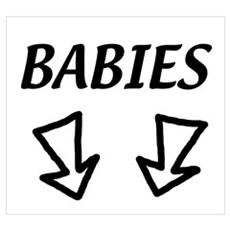BABIES 2 arrows for twins Poster