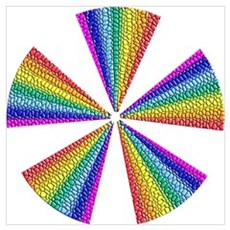 GAY PRIDE RAINBOW TILE FAN Poster