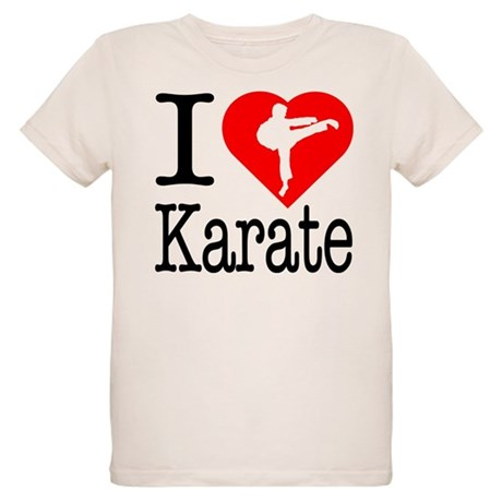 I Love Karate Organic Kids T-Shirt