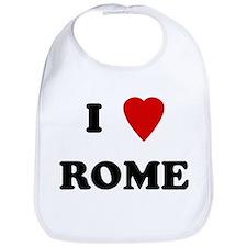 I Love Rome Bib