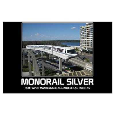 Monorail Silver Inspirational Poster