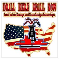 Drill here drill drill now Poster